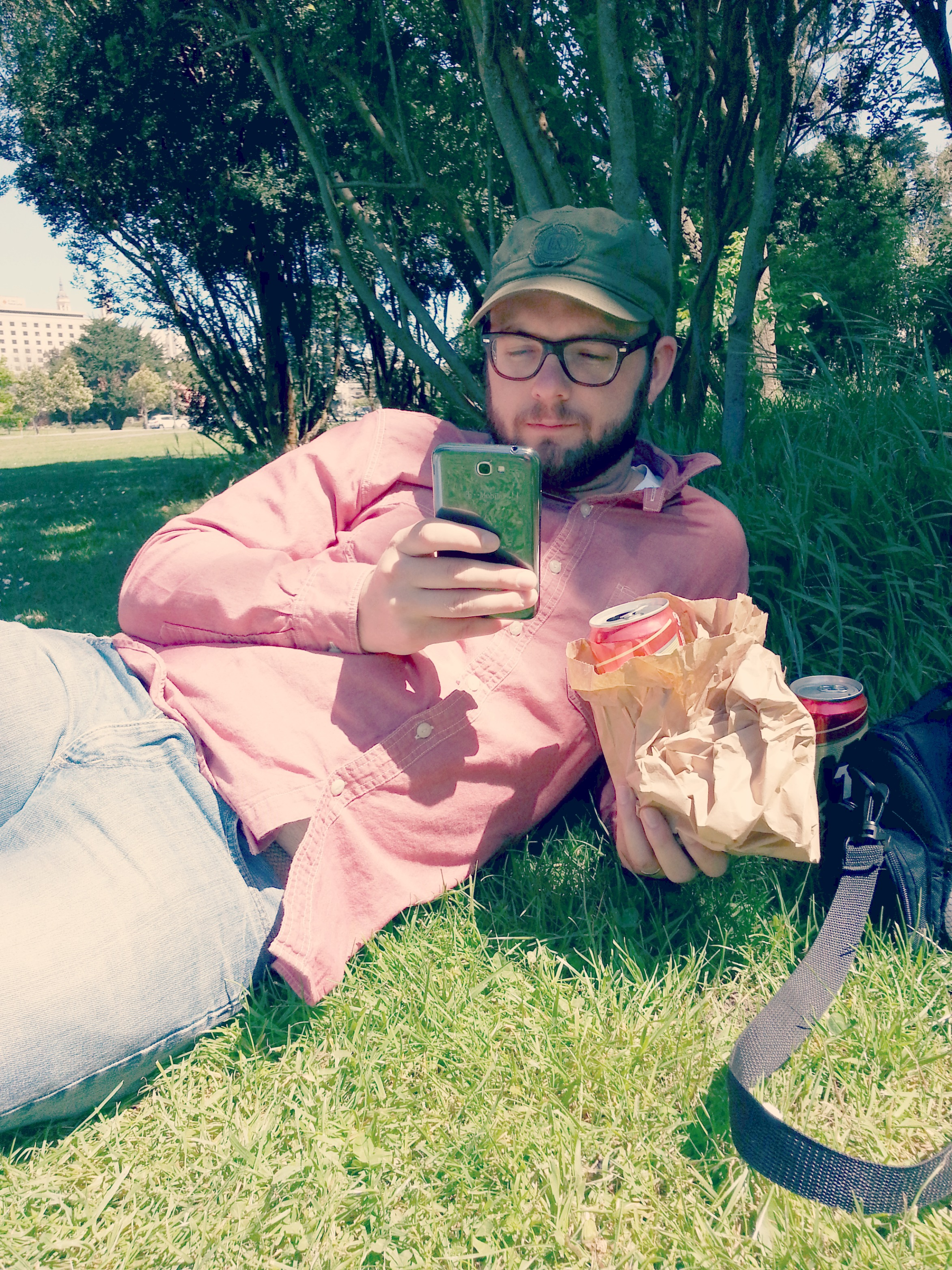 Brown bagging it in Golden Gate Park