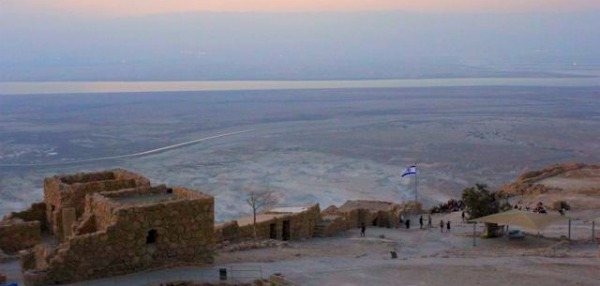 View from the top of Masada