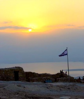 Sunrise over Masada 2