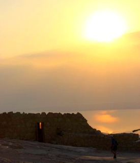 Sunrise over Masada