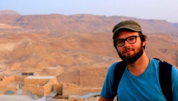 Mark at the top of Masada in Israel