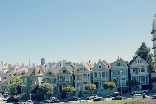 San Francisco's Painted Ladies, From Alamo Square Park