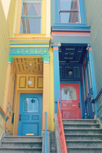 Colorful Haight-Ashbury Doorways