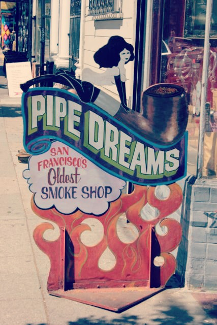 Pipe Dreams, San Francisco's Oldest Smoke Shop, in Haight-Ashbury