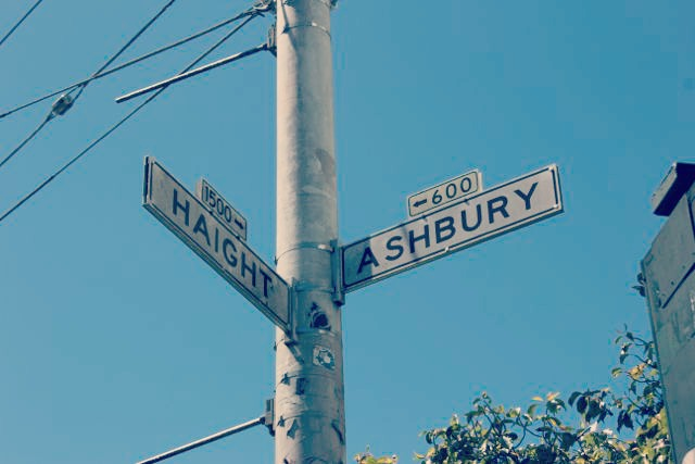 Corner of Haight & Ashbury Street Sign