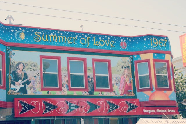 Summer of Love Mural on Burger Urge, Haight-Ashbury
