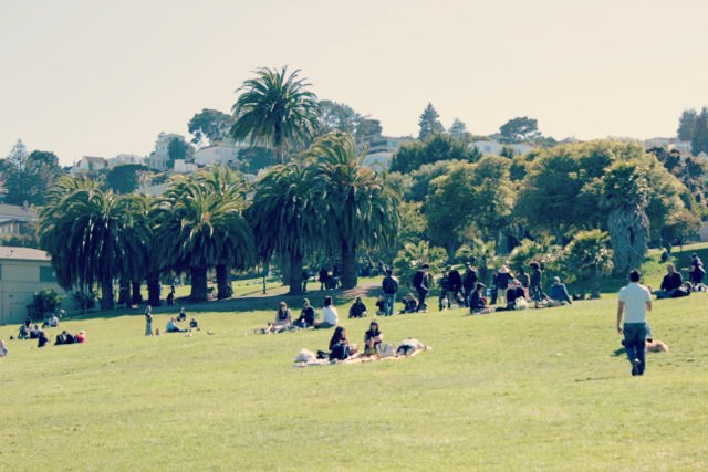 Lounging at Dolores Park