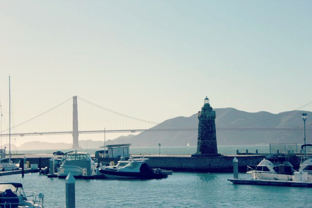 View of the Golden Gate Bridge from the San Francisco Marina