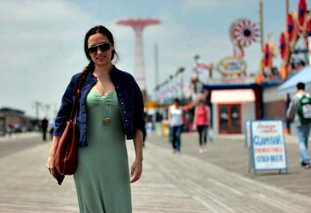 Katie at Coney Island